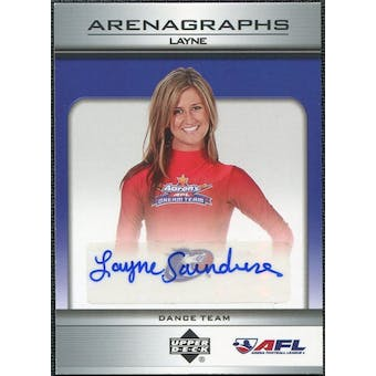 2006 Upper Deck AFL Arenagraphs #DLA Dancer: Layne Autograph