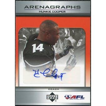2006 Upper Deck AFL Arenagraphs #HC Hunkie Cooper Autograph