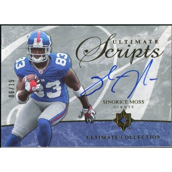 2006 Upper Deck Ultimate Collection Ultimate Scripts #USCSM Sinorice Moss 6/15