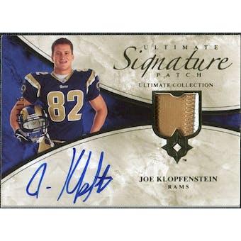 2006 Upper Deck Ultimate Collection Game Jersey Autographs Patch #ULTJK Joe Klopfenstein Autograph /15