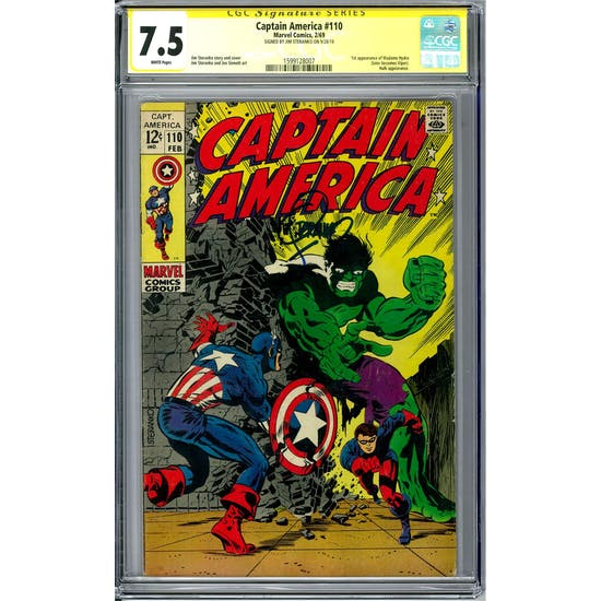 Captain America #110 CGC 7.5 Jim Steranko Signature Series (W) *1599128007*
