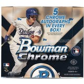 2015 Bowman Chrome Baseball Jumbo Box