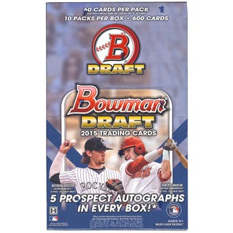 2015 Bowman Draft Picks & Prospects Baseball SUPER Jumbo Box