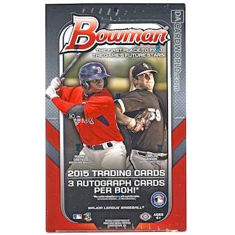 2015 Bowman Baseball Jumbo Box
