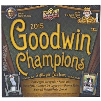 2015 Upper Deck Goodwin Champions Hobby Box