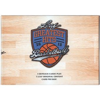 2014/15 Leaf Greatest Hits Basketball Hobby Box