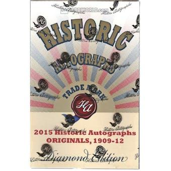 2015 Historic Autograph Originals 1909-1912 Diamond Edition Baseball Hobby Box