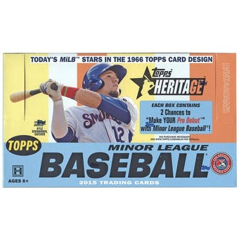 2015 Topps Heritage Minor League Baseball Hobby Box