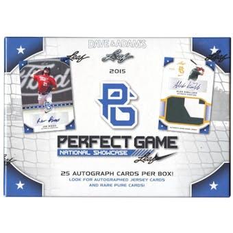 2015 Leaf Perfect Game National Showcase Baseball Hobby Box