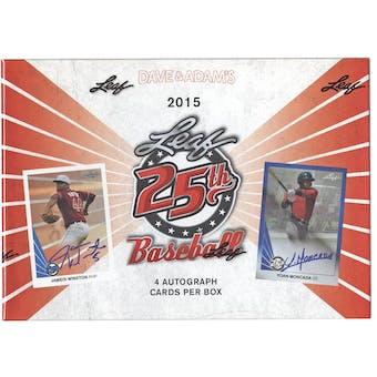 2015 Leaf 25th Baseball Hobby Box