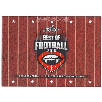 2015 Leaf Best Of Football Hobby Box