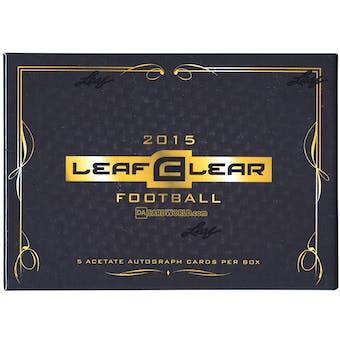 2015 Leaf Clear Football Hobby Box