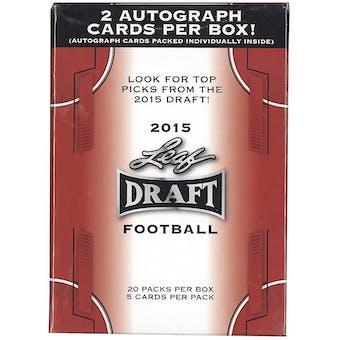 2015 Leaf Draft Football 20-Pack Box (Two Autographs Per Box!)