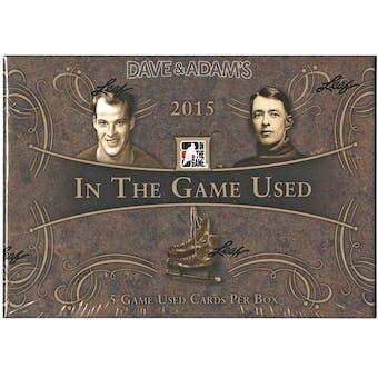 2015/16 Leaf In The Game Used Hockey Hobby Box