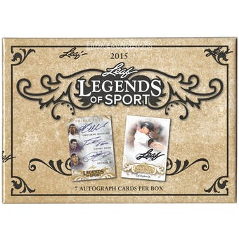 2015 Leaf Legends of Sport Hobby Box