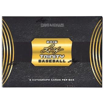 2015 Leaf Trinity Baseball Hobby Box