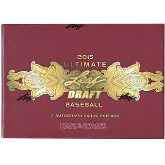2015 Leaf Ultimate Draft Baseball Hobby Box