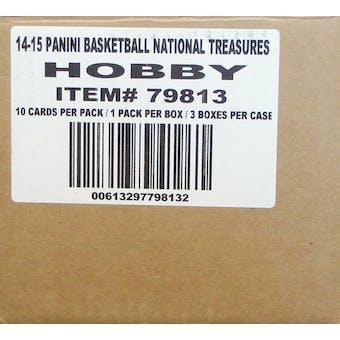 2014/15 Panini National Treasures Basketball Hobby 3-Box Case