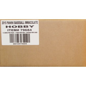 2015 Panini Immaculate Baseball Hobby 8-Box Case