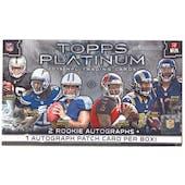 2015 Topps Platinum Football Hobby Box