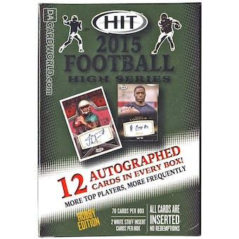 2015 Sage Hit High Series Football Hobby Box