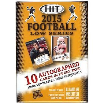 2015 Sage Hit Low Series Football Hobby Box