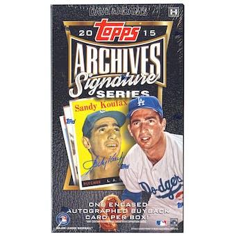 2015 Topps Archives Signature Series Baseball Hobby Box