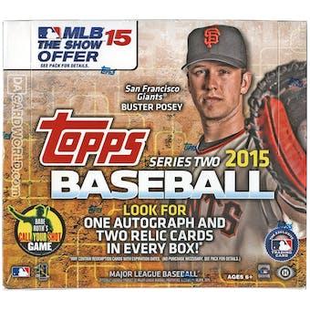 2015 Topps Series 2 Baseball Jumbo Box