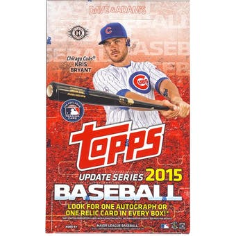 2015 Topps Update Baseball Hobby Box
