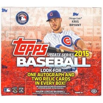 2015 Topps Update Baseball Jumbo Box