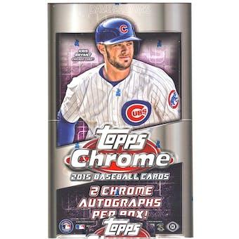 2015 Topps Chrome Baseball Hobby Box