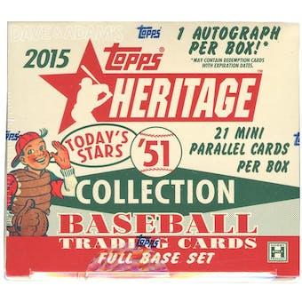 2015 Topps Heritage '51 Baseball Hobby Box (Set)