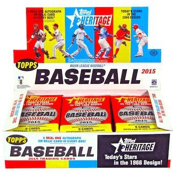 2015 Topps Heritage Baseball Hobby Box