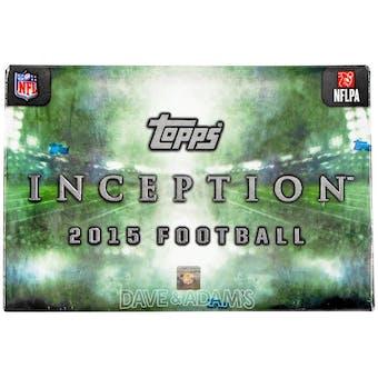 2015 Topps Inception Football Hobby Box