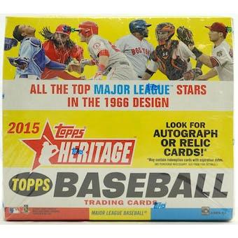 2015 Topps Heritage Baseball 24-Pack Box