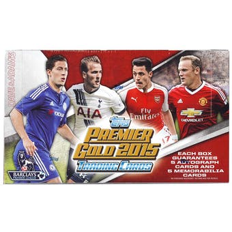2015 Topps English Premier League Gold Soccer Hobby Box