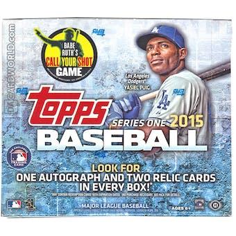 2015 Topps Series 1 Baseball Jumbo Box
