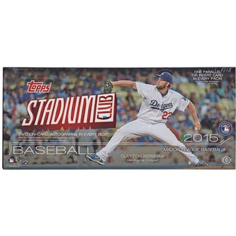 2015 Topps Stadium Club Baseball Hobby Box