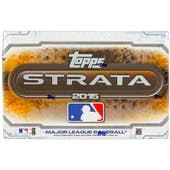 2015 Topps Strata Baseball Hobby Box