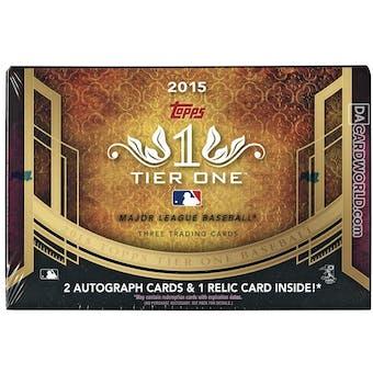 2015 Topps Tier One Baseball Hobby Box