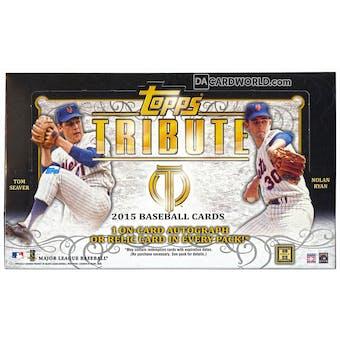 2015 Topps Tribute Baseball Hobby Box