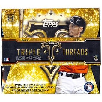 2015 Topps Triple Threads Baseball Hobby Box