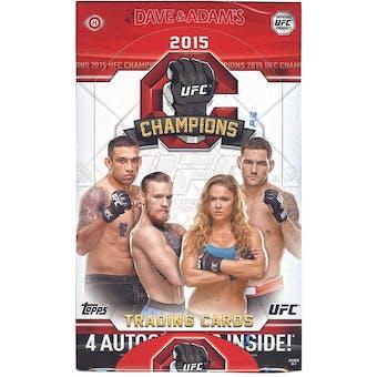 2015 Topps UFC Champions Hobby Box