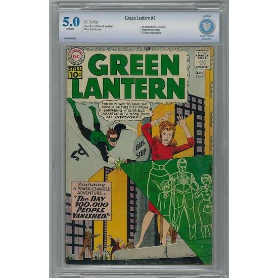 Green Lantern #7 CBCS 5.0 (OW) *16-DA69243-002*