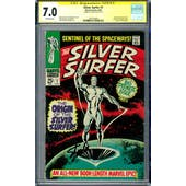 Silver Surfer #1 CGC 7.0 Stan Lee Signature Series (OW) *1601249004*