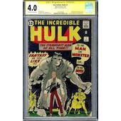 Incredible Hulk #1 CGC 4.0 Stan Lee Signature Series (OW-W) *1601291008*
