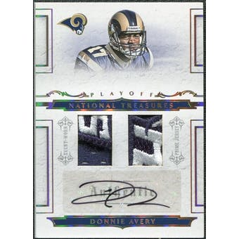 2008 Playoff National Treasures Rookie Signature Combo Material Gold #118 Donnie Avery Auto 10/10