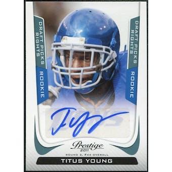 2011 Panini Prestige Draft Picks Rights Autographs #296 Titus Young 75/99