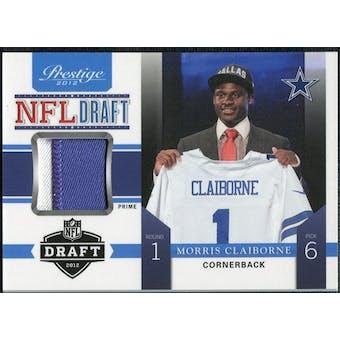 2012 Panini Prestige NFL Draft Materials Prime #6 Morris Claiborne 16/25