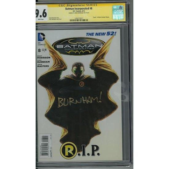 Batman Incorporated #8 CGC 9.6 Chris Burnham Signature Series (W) *1604126021*